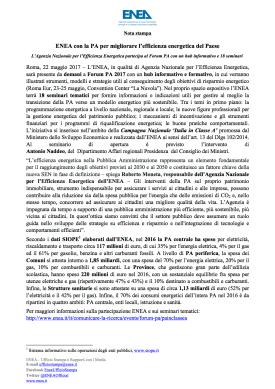 Nota stampa ENEA a Forum PA 2017 (Roma, 22 maggio 2017).png